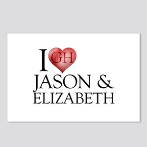 I Heart Jason & Elizabeth Postcards (Package of 8)